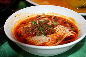 Dandan noodles - Image: Dan dan noodles, Shanghai