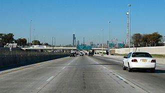 Dan Ryan Expressway - Northbound Dan Ryan Expressway near 51st Street