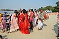 Dancing Devotees - Durga Idol Immersion Ceremony - Baja Kadamtala Ghat - Kolkata 2012-10-24 1351.JPG