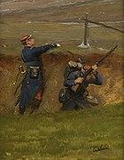 Dans un ravin. Lignards (n°2), fragment du panorama de La Bataille de Champigny.jpg