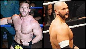 NXT Tag Team Championship - Two-time champions The Revival: Dash Wilder (left) and Scott Dawson (right); the only team to have held the NXT Tag Team Championship on more than one occasion