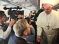 David Wright & Pope Francis aboard Shepherd One.jpg