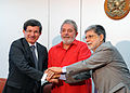 Davutoglu with Lula and Amorim 1.JPG