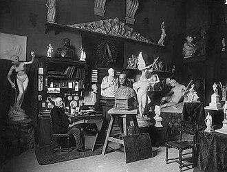 Bart van Hove - Bart van Hove in his workshop, 1903