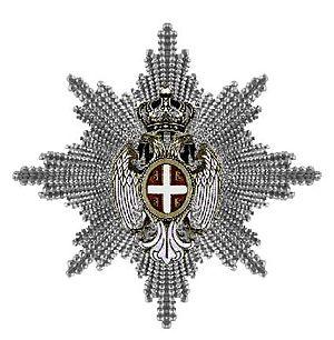 Order of the White Eagle (Serbia) - Image: De ster van de Orde van de Witte Adelaar Servie