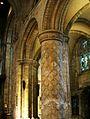 Decorated Romanesque pillar, Selby.JPG