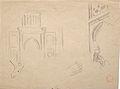 Dehodencq A. - Pencil & Ink - Etude d'entrée de mosquée, de mains, de pied - 23.9x18.1cm.jpg