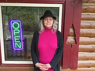 Ester, Alaska - Deirdre Helfferich is an artist, writer, and noted bibliophile. She was the editor and publisher of The Ester Republic for over 14 years and was the key player in the founding of the John Trigg Ester Library, a non-profit, membership-based community library.