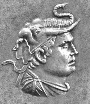 Demetrius I of Bactria - Portrait of Demetrius I.