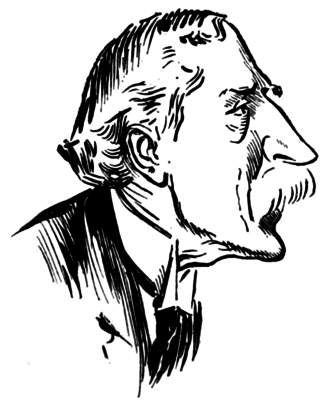 "Denison Faber, 1st Baron Wittenham - ""Self-confessed Vacuity"" (1913). Caricature of Denison Faber from Punch."