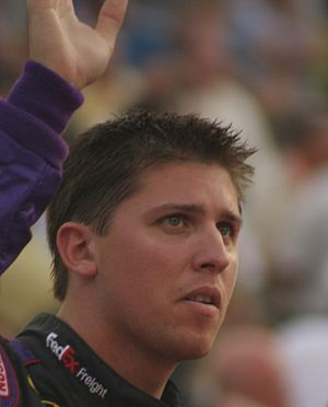 2014 NASCAR Sprint Cup Series - Denny Hamlin finished 6 points behind Harvick in third place