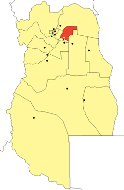 location o San Martín Depairtment in Mendoza Province