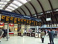 Departure boards, York railway station concourse - DSC07751.JPG