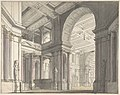 Design for a Stage set Showing the Interior of a Palace (recto); Architectural Sketch (verso) MET DP804365.jpg