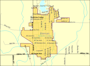 Detailed map of Medicine Lodge, Kansas.png