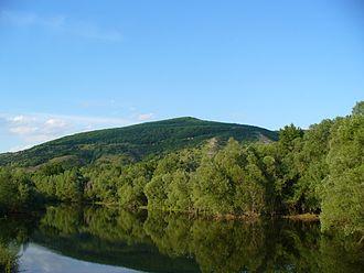 Devínska Kobyla - Devínska Kobyla as seen from the river Morava