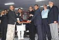 Dinesh Trivedi presented the 56th Railway Week National Awards for Outstanding Services-2011, at a function, in New Delhi. The Minister of State for Railways, Shri Bharatsinh Solanki and the Chairman, Railway Board.jpg