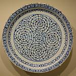 Dish, Golden Horn ware, Turkey, probably Iznik, Ottoman period, c. 1530-1540, earthenware with underglaze painting in cobalt blue - Cincinnati Art Museum - DSC04086.JPG
