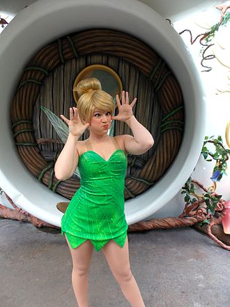 Disney Fairies - Tinker Bell makes a face at Pixie Hollow.
