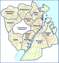Districts of Copenhagen urban area