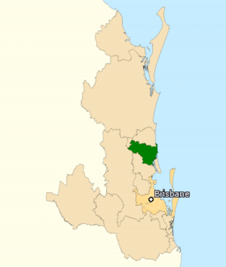 Division of Fisher - Division of Fisher in Queensland, as of the 2016 federal election.