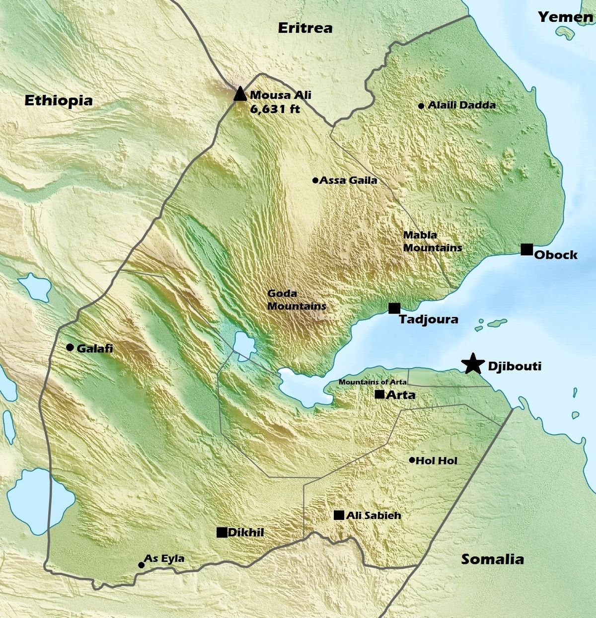 a geography of djibouti Djibouti's economy is based mainly on its role as a trading center for goods traveling to and from africa on the red sea and indian ocean it has a modern port and a railroad connection to addis ababa , the capital of ethiopia.