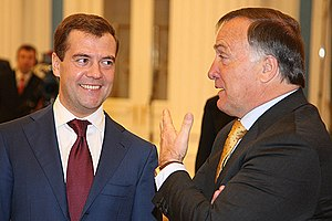 Dick Advocaat - Dick Advocaat with then Russian president Dmitry Medvedev at the Moscow Kremlin in 2008.