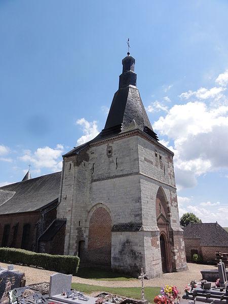 Dohis (Aisne) église tour de l'entrée