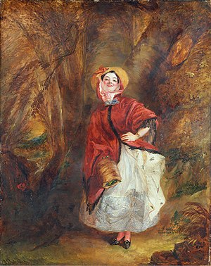 Barnaby Rudge - Dolly Varden as painted by William Powell Frith, 1842