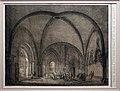 Domenico quaglio II, fonte battesimale e chiostro della cattedrale di magonza, dalla colelzione di edifici medievali memorabili della germania, 1823, litografia.jpg