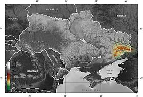 Donets Ridge on the Map of Ukraine (English).jpg