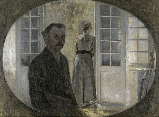 Double portrait of the artist and his wife by Vilhelm Hammershøi
