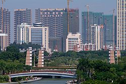 Skyline of Guicheng CBD
