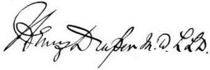 Henry Draper - Image: Draper Henry signature