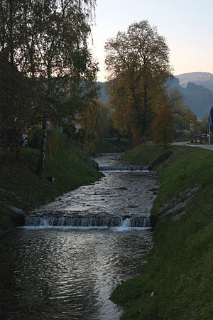Dravinja - The Dravinja River in Zreče