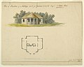 Drawing, Plan and Elevaton of a Cottage at Stoke Park, 1800 (CH 18604889).jpg