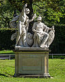 Dresden Blüherpark Skulptur Merkur und Minerva , Thaddäus Ignatius Wiskotschill, um 1780.jpg