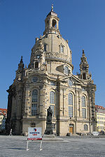 The Dresden Frauenkirche, a few days prior to its re-consecration.