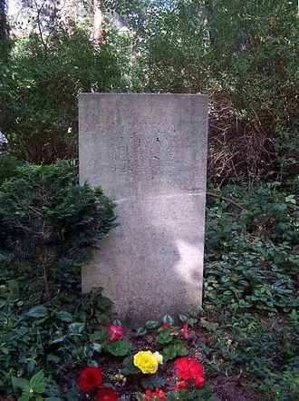 Wilhelm Adam - Adam's grave at the Heidefriedhof in Dresden