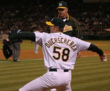 9c27fa4dca2 Justin Duchscherer pitched for the Oakland Athletics