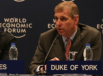 Prince Andrew, Duke of York - The Duke of York in his role as the UK's Special Representative for International Trade and Investment at the World Economic Forum on the Middle East, 2008.