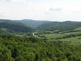 Laborec Highlands mountain range