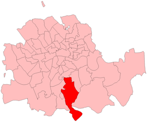 Dulwich (UK Parliament constituency) - Dulwich in London 1885-1918