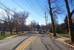 East Brunswick, New Jersey - Typical suburban neighborhood (Dunhams Corner) in East Brunswick
