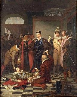 Durupt - Henri III poussant du pied le cadavre du duc de Guise