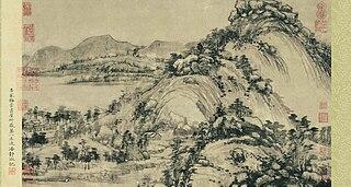 <i>Dwelling in the Fuchun Mountains</i> Painting by Huang Gongwang
