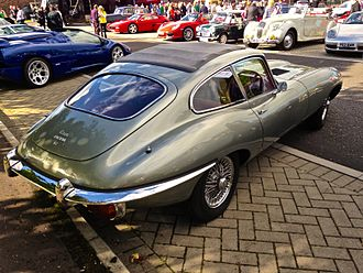 Bothwell - A Jaguar E-Type at the Bothwell Festival of Transport, as part of the Bothwell Scarecrow Festival