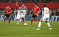 EM-Qualifikationsspiel Österreich-Russland 2014-11-15 064 Roman Shirokov Viktor Fayzulin Zlatko Junuzović Martin Harnik.jpg