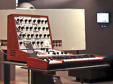 Victor Peraino used the EMS VCS 3 synthesizer on the album Journey. EMS VCS 3 synthesizer (1969, SN 297) & DK-1 keyboard (1969), Musée de la Musique de Paris.jpg
