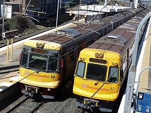 Electric multiple unit (Queensland Rail) - EMU66 and EMU43 at Bowen Hills